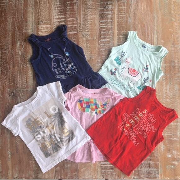 Girls 4T summer play top bundle